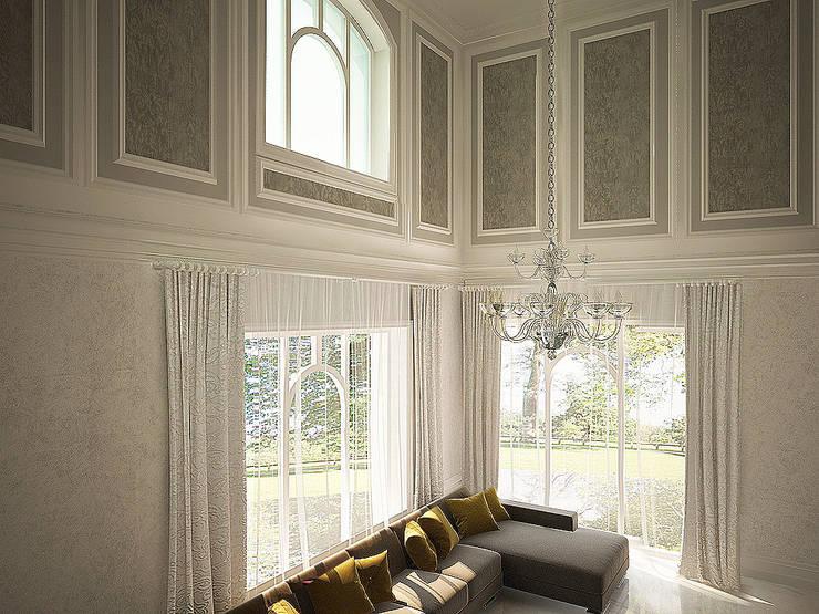 Декорирование стен: Гостиная в . Автор – anydesign, Классический