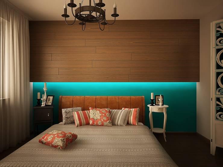 Спальная: Спальни в . Автор – anydesign, Эклектичный