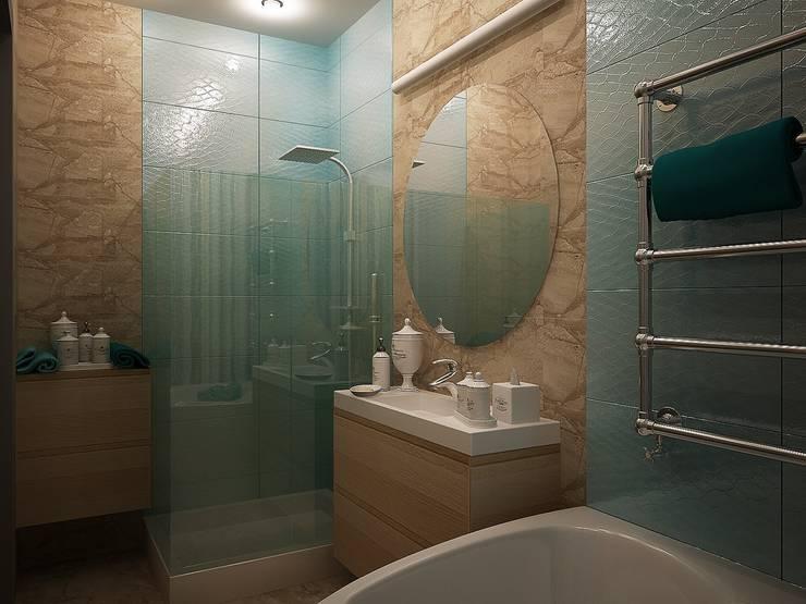 Ванная комната: Ванные комнаты в . Автор – anydesign, Эклектичный Мрамор