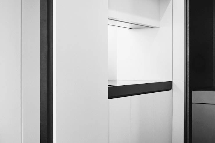 Kitchen:  Keuken door Jen Alkema architect, Minimalistisch Leisteen