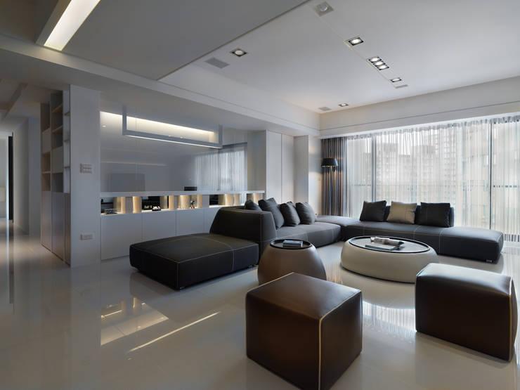 Living room by 倍果設計有限公司, Modern