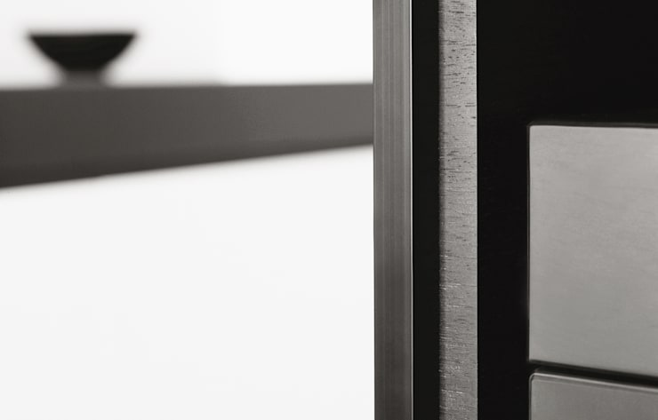 Living room Cabinet Detail:   door Jen Alkema architect, Minimalistisch Houtcomposiet