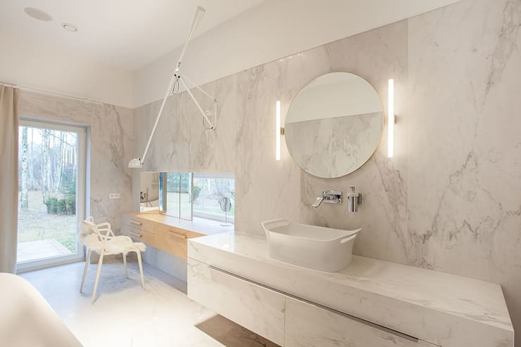 eclectic Bathroom by oyster