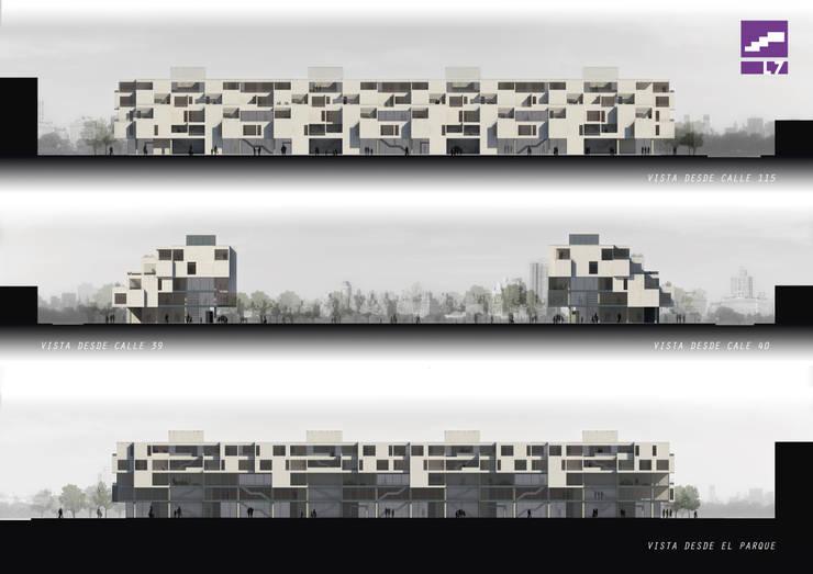 PATIOS EN ALTURA: Casas de estilo  por MH,