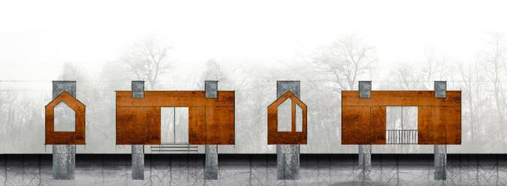 Projekty, nowoczesne Domy zaprojektowane przez tresarquitectos