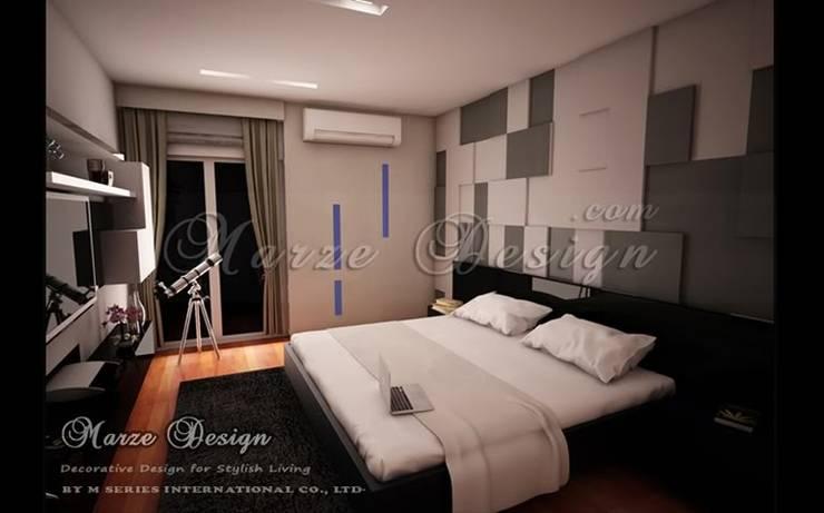 ห้องนอน - Minimalist in Small Bedroom:   by Marze Design