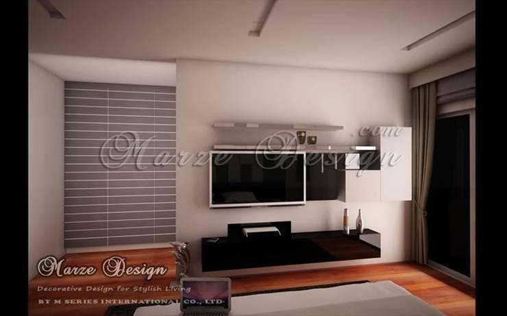 ห้องนอน – Minimalist in Small Bedroom:   by Marze Design