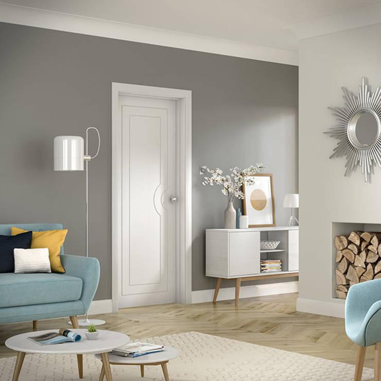 Potenza White Internal Door:  Windows & doors  by Modern Doors Ltd