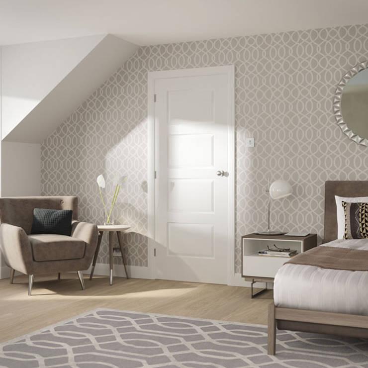 Severo White Internal Door:  Windows & doors  by Modern Doors Ltd
