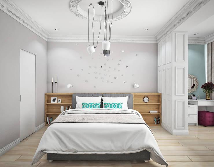 Dormitorios de estilo escandinavo por Ирина Рожкова - частный дизайнер интерьера