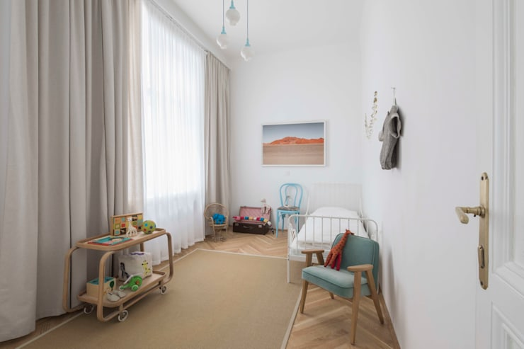 modern Nursery/kid's room by destilat Design Studio GmbH