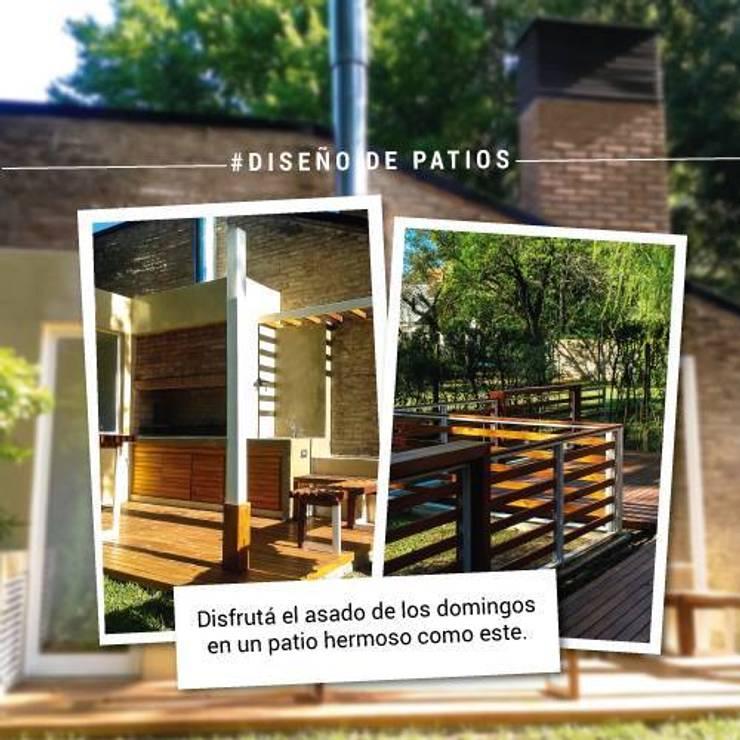 #DiseñoDePatios - Grupo Madero:  de estilo  por Grupo Madero,