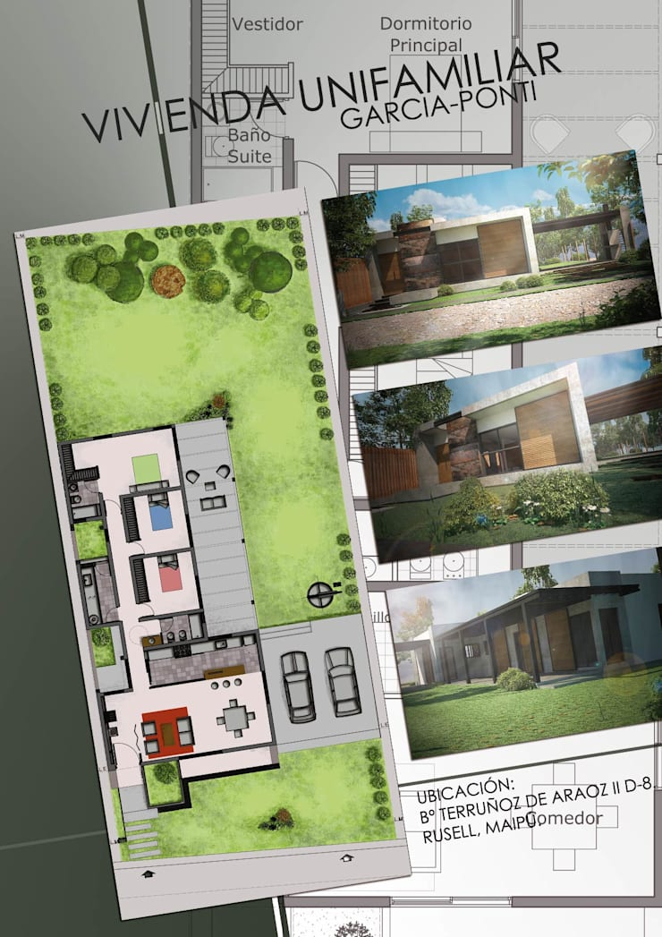 Vivienda Garcia-Ponti: Casas de estilo  por Hornero Arquitectura y Diseño,