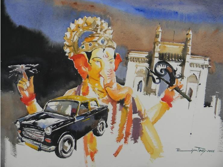 Mumbai way:  Artwork by Indian Art Ideas