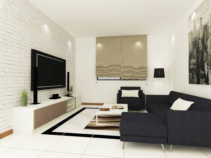 Living Room 3D Design #1:  ห้องนั่งเล่น by SIAMTAK CO., LTD.
