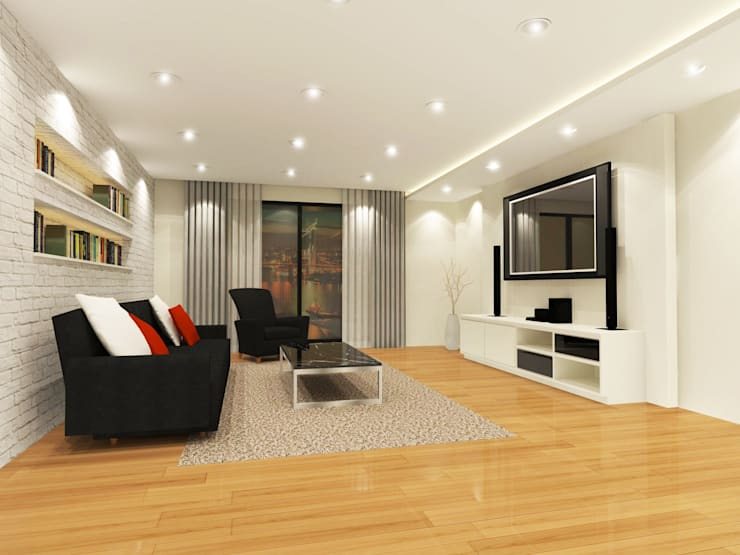 Living Room 3D Design #3:  ห้องนั่งเล่น by SIAMTAK CO., LTD.