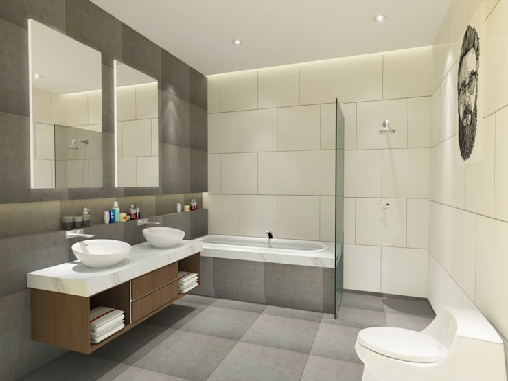 Bathroom 3D Design #1:  ห้องน้ำ by SIAMTAK CO., LTD.