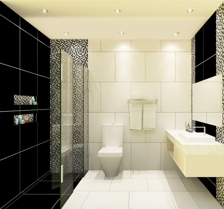 Bathroom 3D Design #2:  ห้องน้ำ by SIAMTAK CO., LTD.