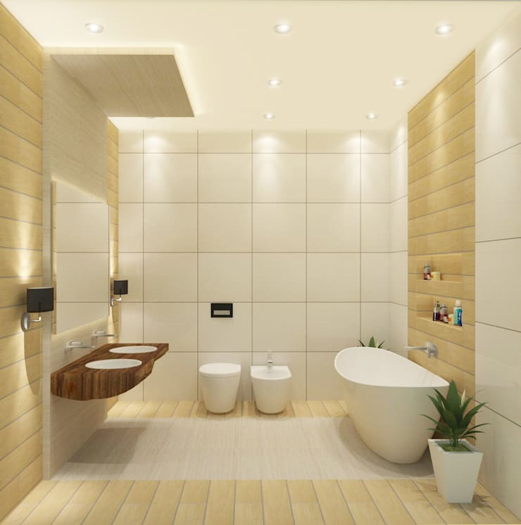 Bathroom 3D Design #3:  ห้องน้ำ by SIAMTAK CO., LTD.