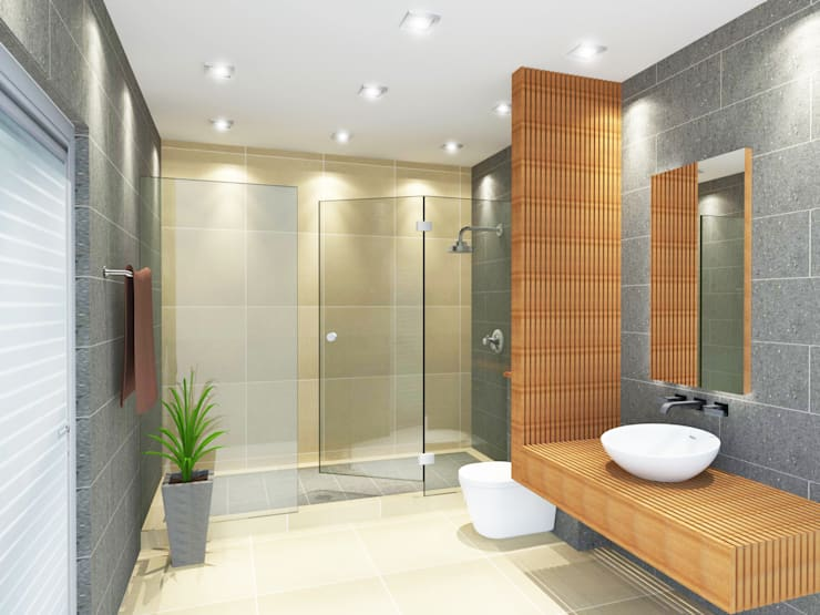 Bathroom 3D Design #4:  ห้องน้ำ by SIAMTAK CO., LTD.
