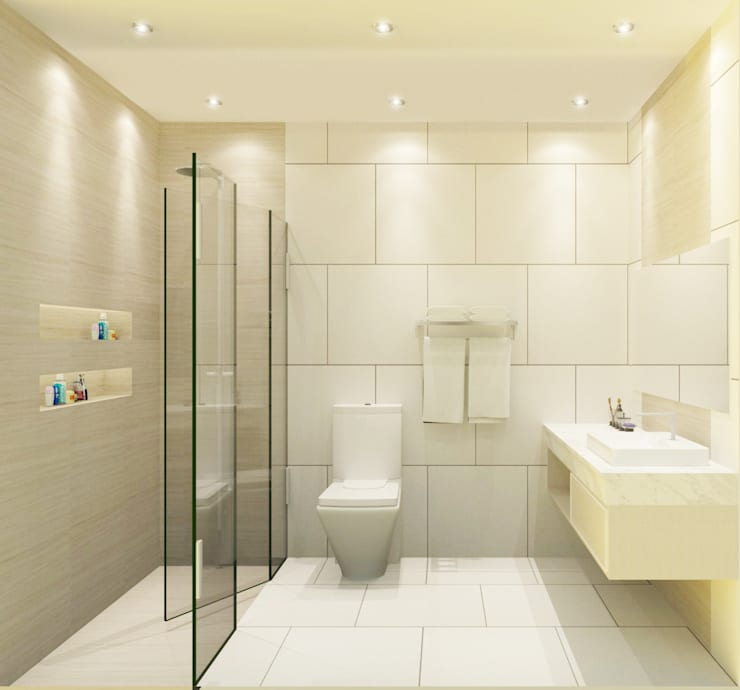 Bathroom 3D Design #5:  ห้องน้ำ by SIAMTAK CO., LTD.