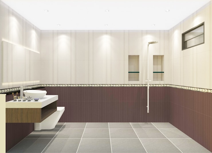 Bathroom 3D Design #6:  ห้องน้ำ by SIAMTAK CO., LTD.