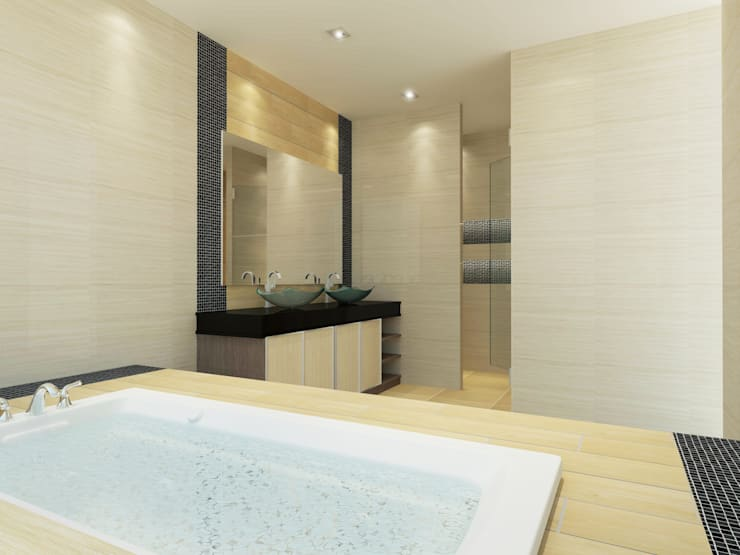Bathroom 3D Design #9:  ห้องน้ำ by SIAMTAK CO., LTD.