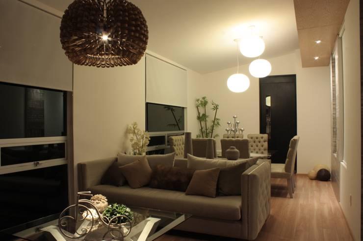 PENTHOUSE ALEJANDRA: Salas de estilo moderno por emARTquitectura