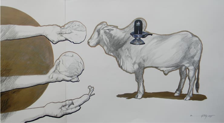 "Pick Vibrant ""Hafta Vasool"" Painting from Indian Art Ideas!:  Artwork by Indian Art Ideas"