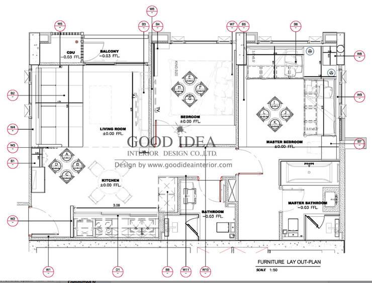 xxxix (the 39 by Sansiri) – งานออกแบบตกแต่งภายในระดับพรีเมี่ยม:   by GOOD IDEA INTERIOR CO.,LTD.