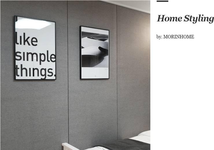 고양시 식사동 오피스텔 모델하우스 디스플레이 : 모린홈의  벽
