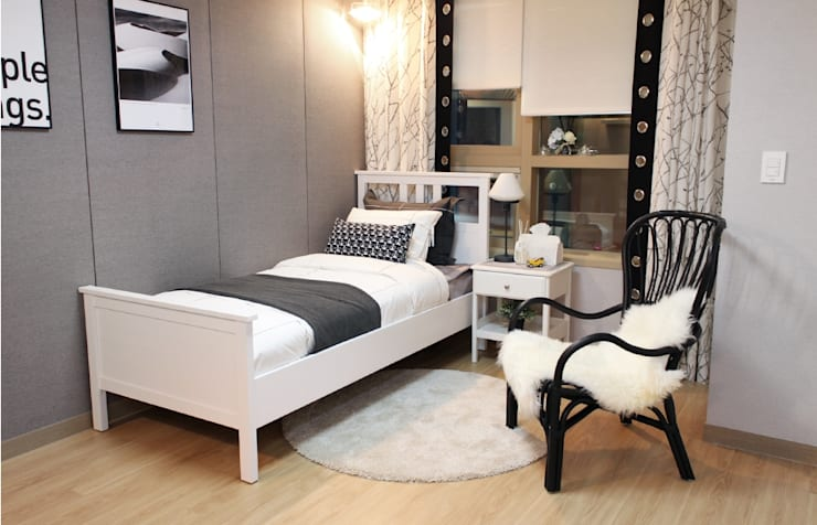 고양시 식사동 오피스텔 모델하우스 디스플레이 : 모린홈의  침실