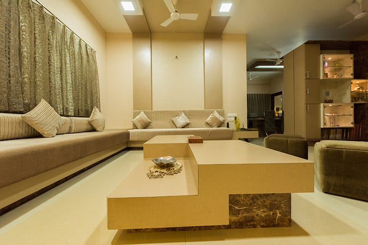 Sanchetna:  Living room by Ankit Goenka