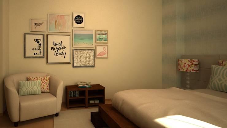 Cuartos de estilo  por Ana Andrade - Design de Interiores