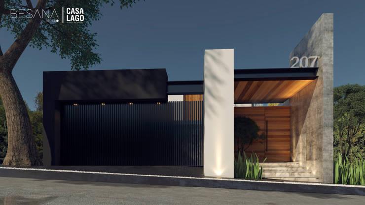 Fachada Norte: Casas de estilo  por Besana Studio
