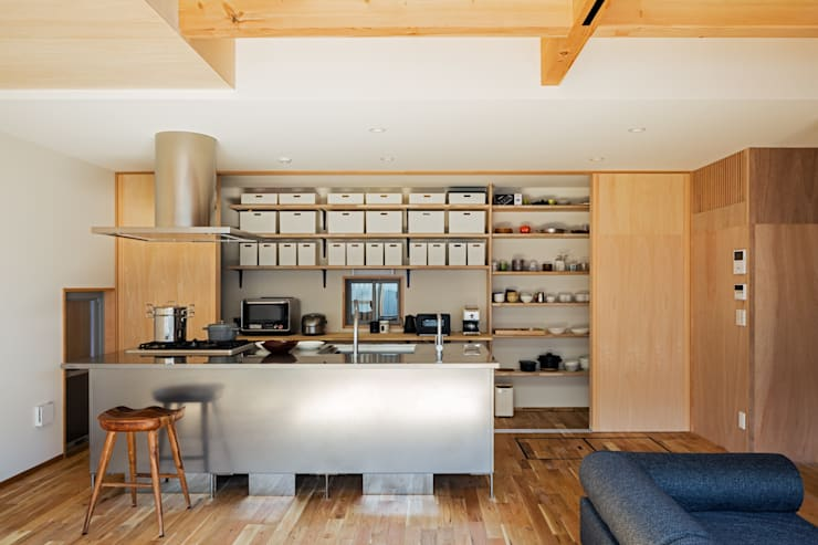 مطبخ تنفيذ coil松村一輝建設計事務所
