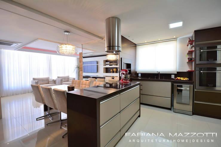 Cocinas de estilo  por Fabiana Mazzotti Arquitetura e Interiores