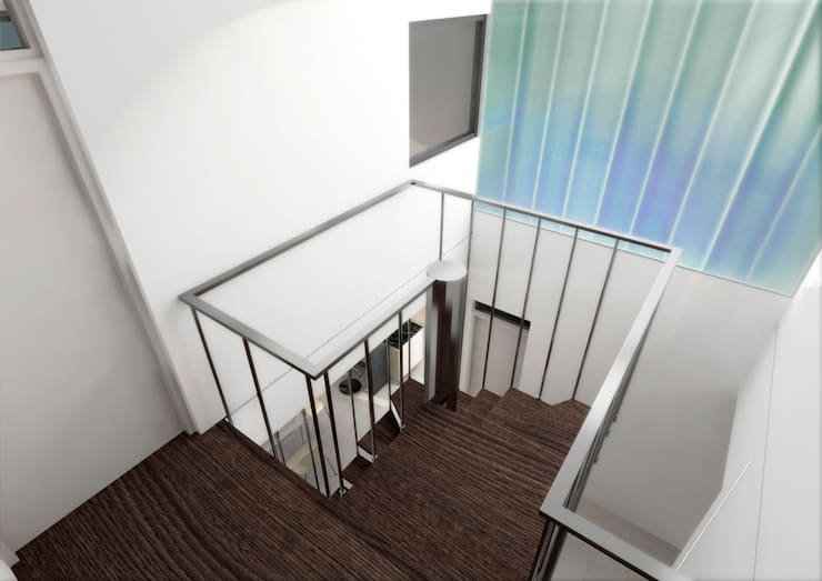 Corridor & hallway by unoenseis Estudio