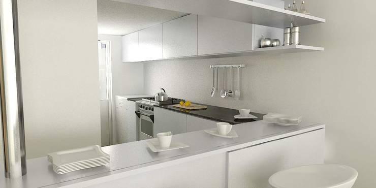 CASA UNO (2012): Cocinas de estilo minimalista por unoenseis Estudio