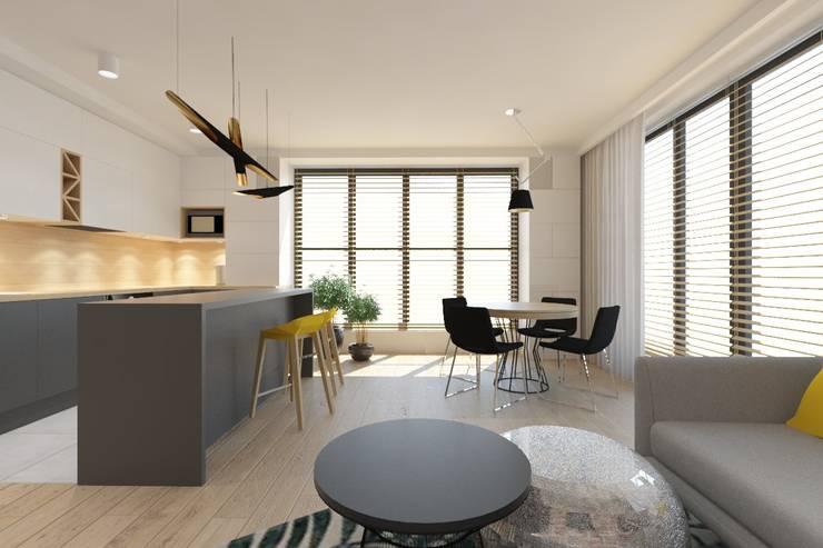 غرفة السفرة تنفيذ INNers - architektura wnętrza