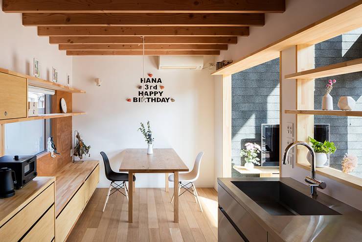 Projekty,  Jadalnia zaprojektowane przez 建築設計事務所SAI工房