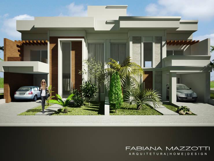 Casas de estilo moderno por Fabiana Mazzotti Arquitetura e Interiores