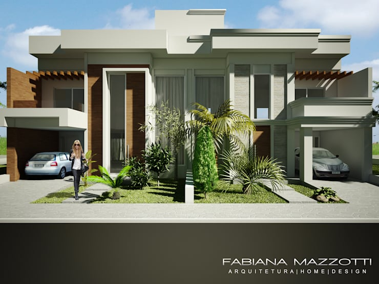 Casas de estilo  por Fabiana Mazzotti Arquitetura e Interiores