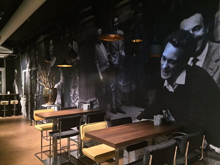 Fellini Rotterdam:  Bars & clubs door LC Interior Architects BV, Industrieel