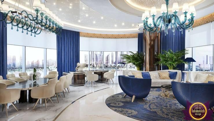 Elite Office Interior design of Katrina Antonovich:  Study/office by Luxury Antonovich Design