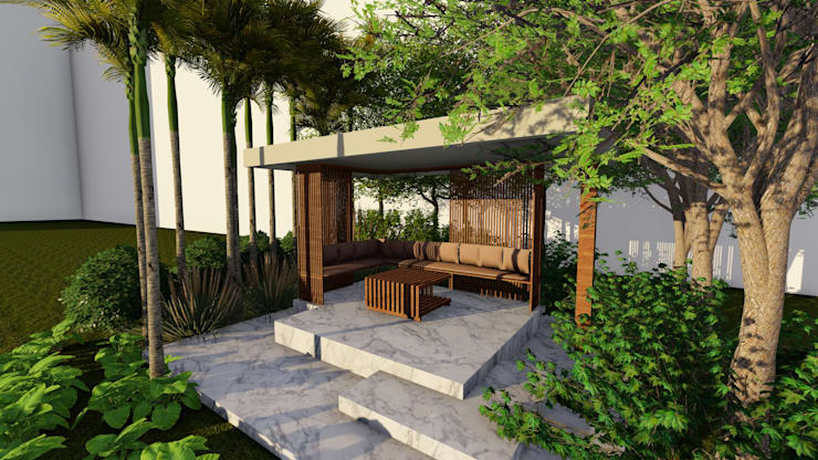Outdoor Gazebo: modern Garden by Studio Machaan
