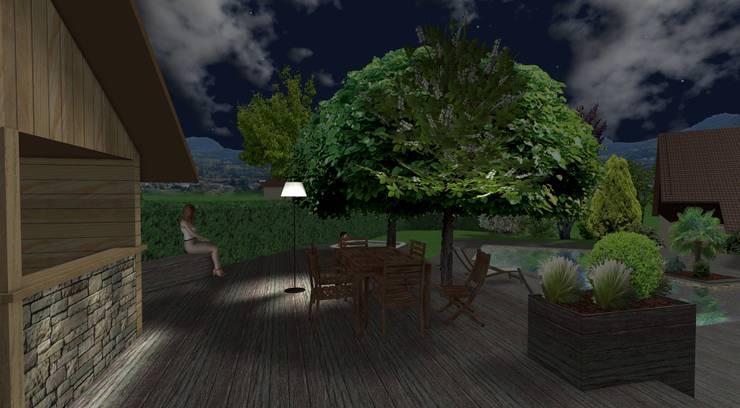 Jardines de estilo  por Anthemis Bureau d'Etude Paysage, Moderno