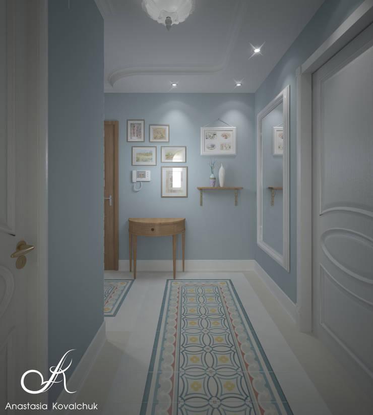Apartment in Moscow:  Corridor & hallway by Design studio by Anastasia Kovalchuk