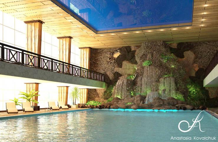 The pool in Spa:  Pool by Design studio by Anastasia Kovalchuk
