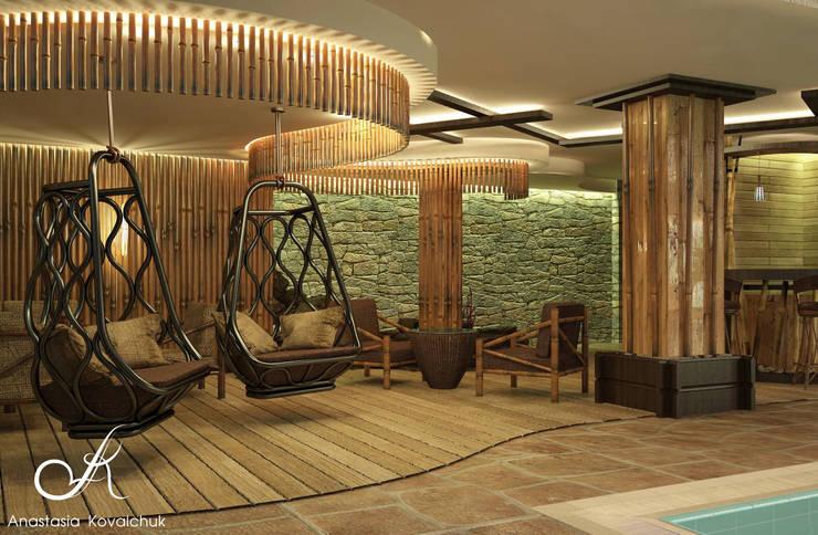 The pool in Spa: tropical Pool by Design studio by Anastasia Kovalchuk